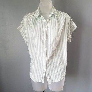 Madewell Central Shirt Striped Button Up Top XS